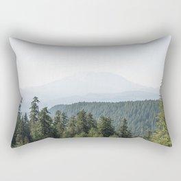 Lookout Ridge - Mountain Nature Photography Rectangular Pillow