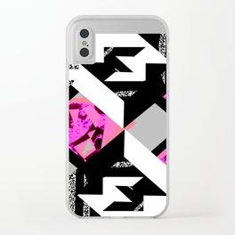 4zwz mirrowinv Clear iPhone Case
