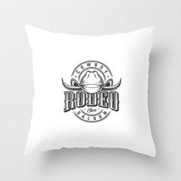 Emblemas Do Oeste Selvagem Throw Pillow