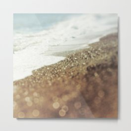 BEACH Golden Bliss Metal Print