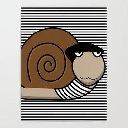 French Snail ~ Escargot Poster