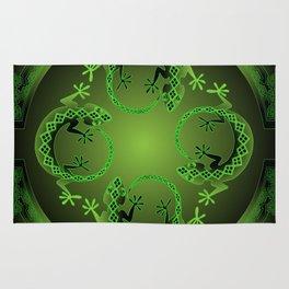 Vintage Green Gecko Rug