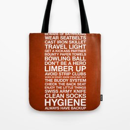 Zombieland —The Rules Tote Bag