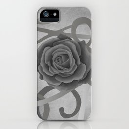 GREY MATTER / BLACK ROSE iPhone Case