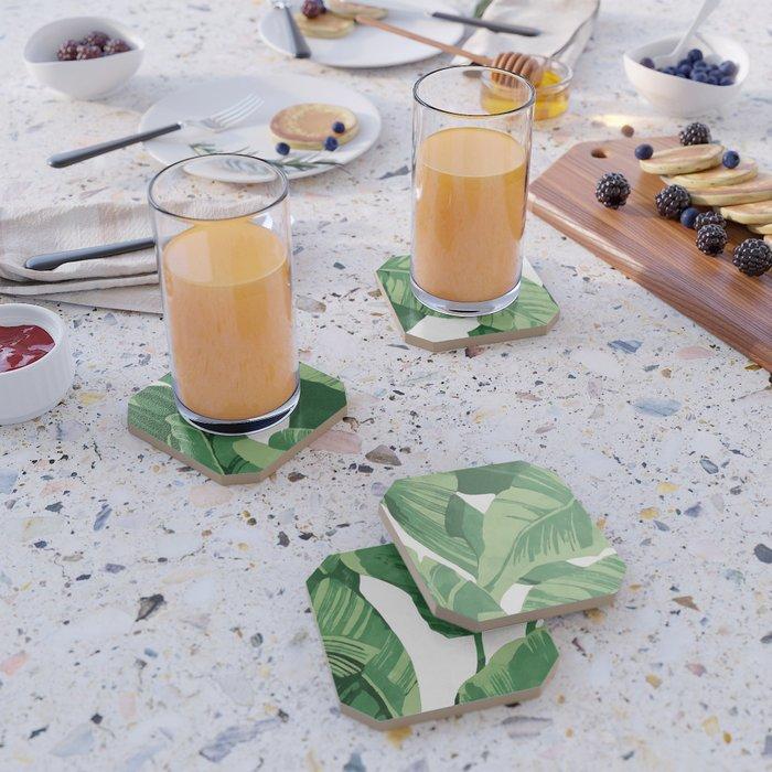 Tropical banana leaves IV Coaster