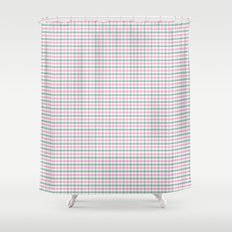 Gingham pink and forest green Shower Curtain