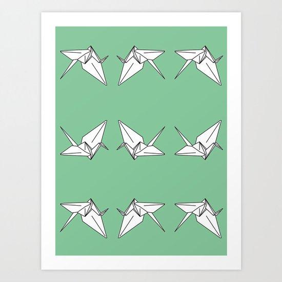 Paper Crane Motif, 2013. Art Print