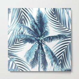 South Pacific palms II - oceanic Metal Print