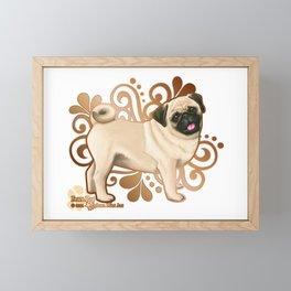 Fawn Pug Framed Mini Art Print