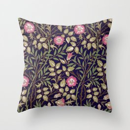 William Morris Briar Floral Art Nouveau Throw Pillow