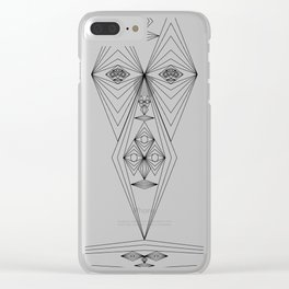 Many geometrie Faces Clear iPhone Case