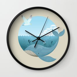 Whale & Seagull (US and THEM) Wall Clock