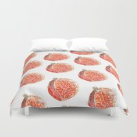 pomegranate Duvet Covers featuring Pomegranate by Imanol Buisan