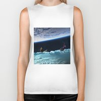 skiing Biker Tanks featuring Skiing by Cs025