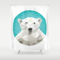 bears Shower Curtains featuring ♥ SAVE THE POLAR BEARS ♥ by ℳixed ℱeelings