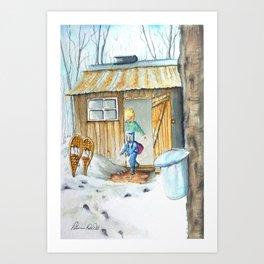 Sugar Cabin In Quebec Art Print