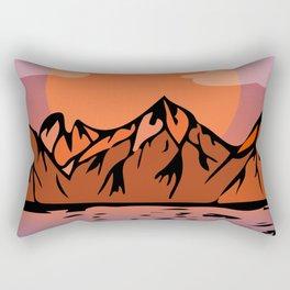 Flat sunrise Rectangular Pillow