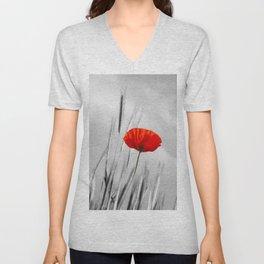 Poppy Red 070 Unisex V-Neck