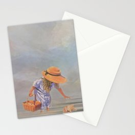 Collecting Sea Shells Stationery Cards