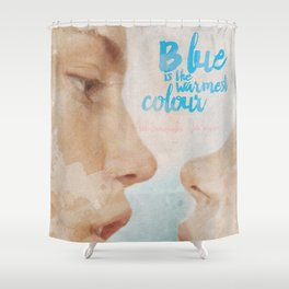 Blue is the warmest colour - chapter one - hand-painted movie poster - Shower Curtain