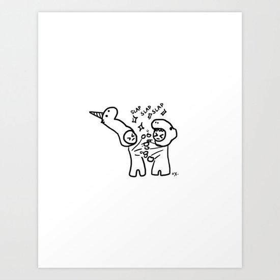 slapfight Art Print