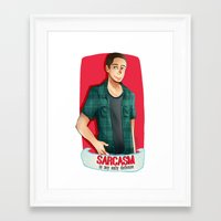 sarcasm Framed Art Prints featuring Sarcasm by IanShan