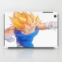 vegeta iPad Cases featuring Ascended Super Saiyan Vegeta by bmeow