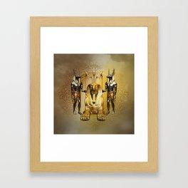Anubis the egyptian god Framed Art Print