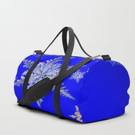 """MORE SNOW"" BLUE WINTER ART DESIGN Duffle Bag"