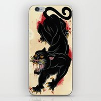 panther iPhone & iPod Skins featuring PANTHER by Magdalena Sky - The Moth
