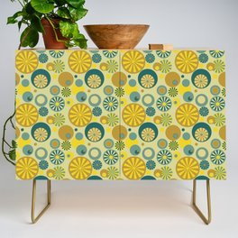 Circle Frenzy - Yellow Credenza