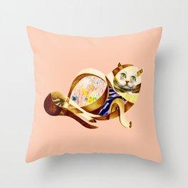Here Litte Kitty Throw Pillow
