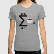 Infinite Coffee Tri-Grey Womens Fitted Tee LARGE