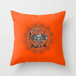 Skull and Crossbones Medallion Throw Pillow