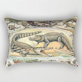 Reptiles by Adolphe Millot // XL 19th Century Snakes Lizards Alligators Science Textbook Artwork Rectangular Pillow
