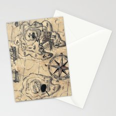 Old Nautical Map Stationery Cards