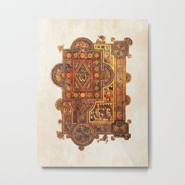 Book Of Kells Incipit To Luke Page Metal Print