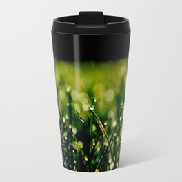 Dew Laden Grass 3 Travel Mug