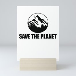 Save The Planet Mini Art Print