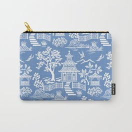 Chinoiserie Pagoda Carry-All Pouch