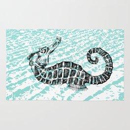 Seahorse nautical decor Rug