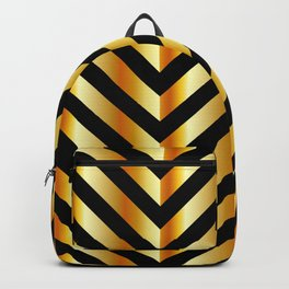 High grade raw material golden and black zigzag stripes Backpack
