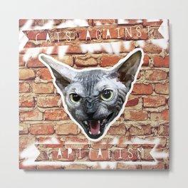 Cats Against Capitalism Metal Print
