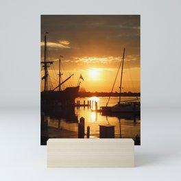 Boat Sunrise 1 Mini Art Print
