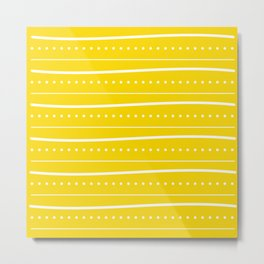 Yellow dot stripe Metal Print