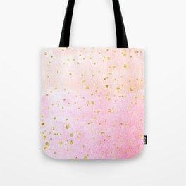 Watercolor confetti paper Gold Tote Bag