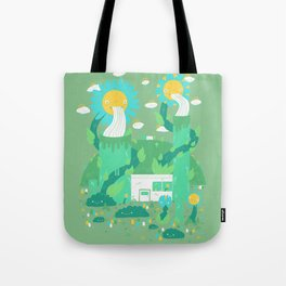 Flower power plant Tote Bag