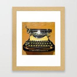 corona vintage typewriter Framed Art Print