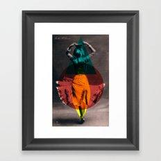 dance in shape Framed Art Print