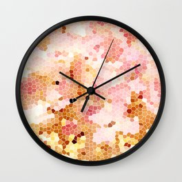 Blush Pink Abstract Spring Floral | Easter | Millennial Pink Wall Clock